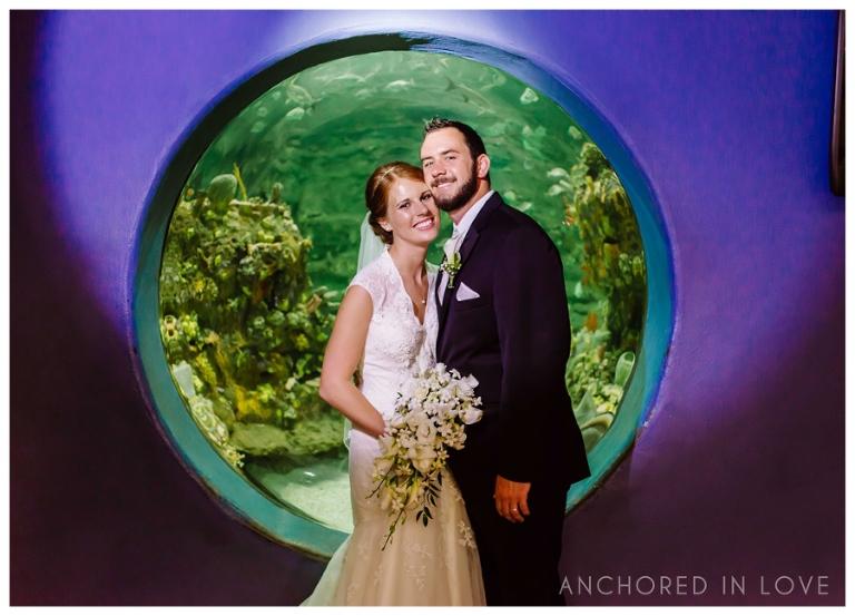 KB Fort Fisher Aquarium Wedding Anchored in Love Wilmington North Carolina_1001