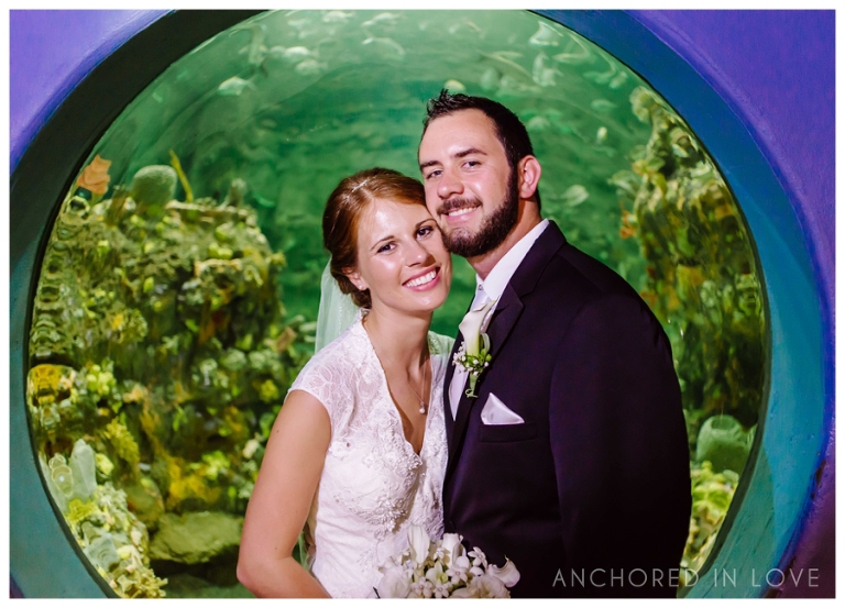 KB Fort Fisher Aquarium Wedding Anchored in Love Wilmington North Carolina_1067