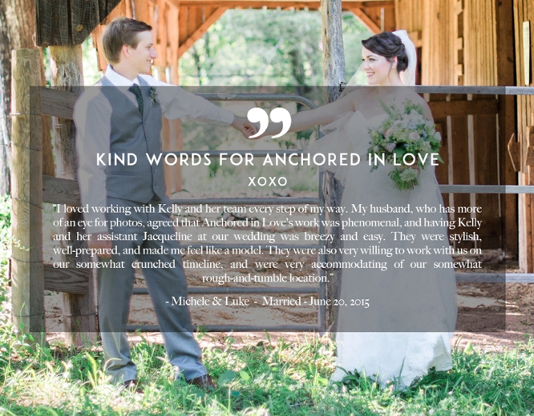 Kind Words Reviews Asheville Wedding Anchored in Love