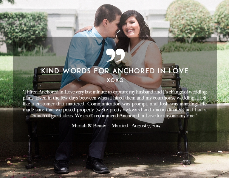 Kind Words Review Elopement Wedding Anchored in Love Wilmington NC