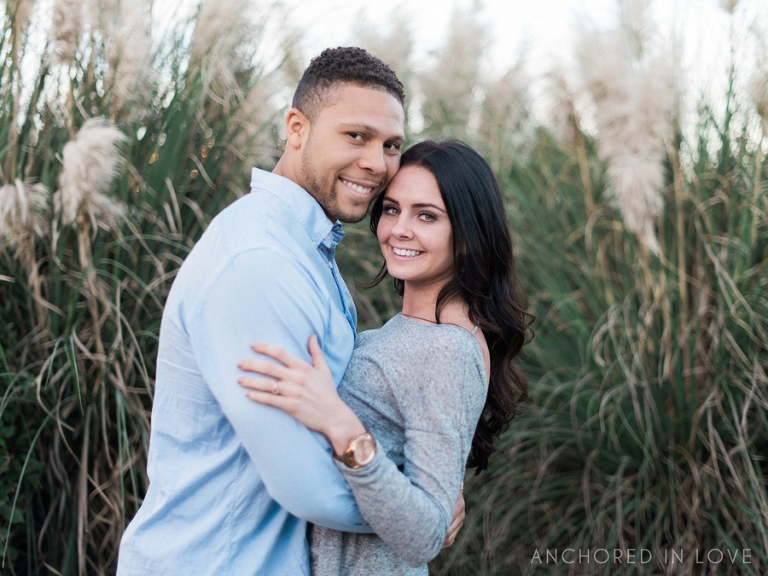 Downtown and Wrightsville Beach NC Engagement Session A&E Anchored in Love