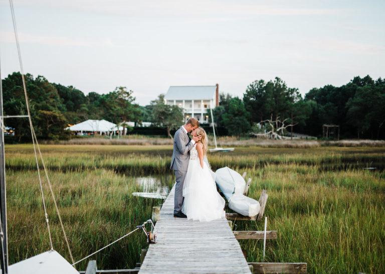 Sneak K Rachel Jeff S The Watson House Emerald Isle Wedding